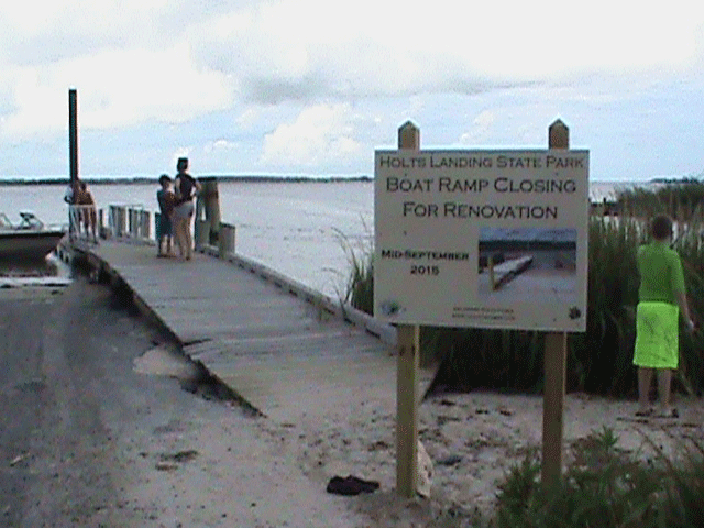 The Boat Ramp will be closed for construction in September- The new ramp will feature a launch capacity for up to 30 feet boats And a separate kayak launch lane