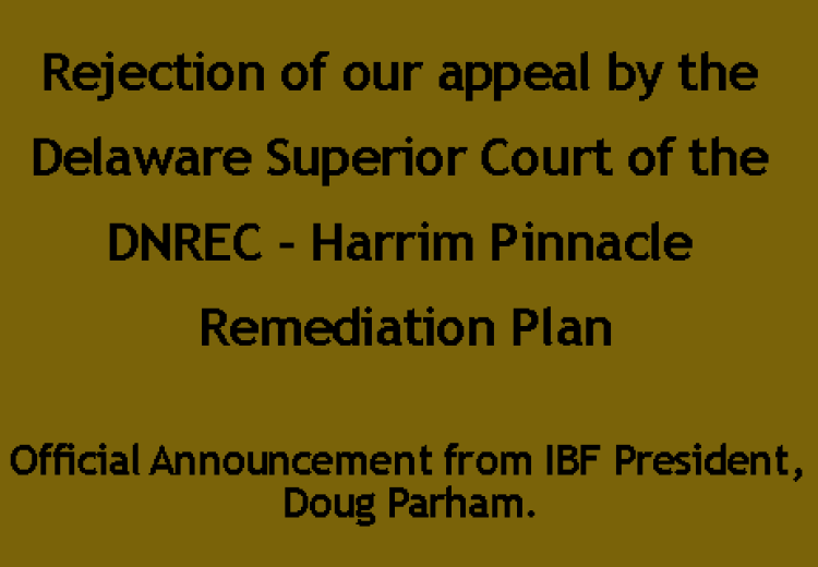 Official Announcement from IBF President, Doug Parham.