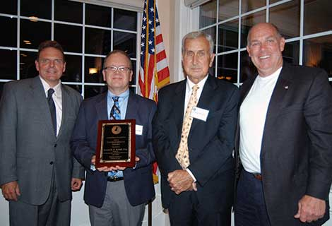 Attorney Kenneth Kristl, second from left, was named the Environmental Friend of the Inland Bays by the Inland Bays Foundation. Joining Kristl (l-r) are Department of Natural Resources and Environmental Control Secretary David Small, Inland Bays Foundation President Doug Parham and Speaker of the House Rep. Pete Schwartzkopf, D-Rehoboth Beach.