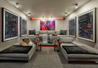 Before and After: Typical Garage Turns Into Vibrant Home Theater (12 photos)