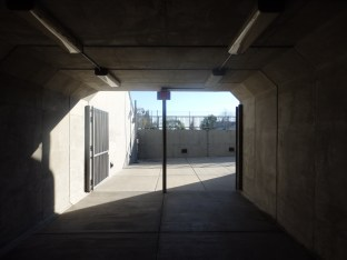 Looking at the location of the yet-to-be-constructed pedestrian grand entryway to Montclair from under the tracks.