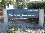 Signage at the corner of Monte Vista and Richton welcomes visitors to the Montclair Transcenter.