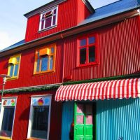 Reykjavik - colourful corrugated iron