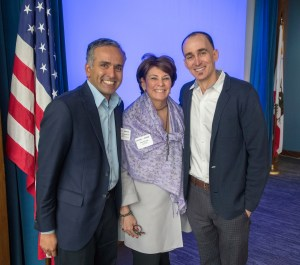 Karthick Ramakrishnan, Donna Lucas, and Daniel Zingale at the Inland California Rising coalition, State Capitol. February 19, 2019.