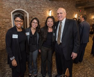 Paulette Brown-Hinds, Marlenee Blas Pedral, Celia Cudiamat, and UCR Chancellor Kim Wilcox at the Inland California Rising coalition, State Capitol. February 19, 2019.