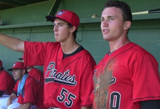 Pitcher Michael Koval and Catcher Dylan Lowenstein