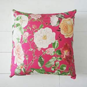 Pink Floral Cushion - RHS Royal Horticultural Society