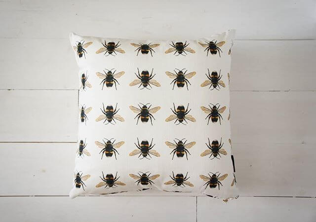 Who doesn't love a 🐝 cushion!  Shop full cushion collection at inlehome.co.uk