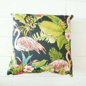 Flamingo Dark - Art Print Cushion