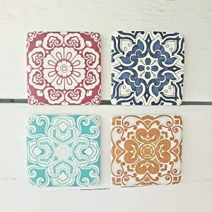 Bright Tile Style Coasters