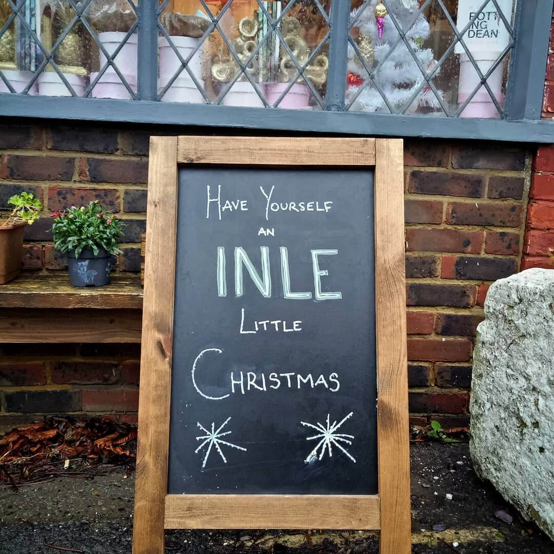 Our lovely Rottingdean shop is open throughout December- and our website never closes . www.inlehome.co.uk
