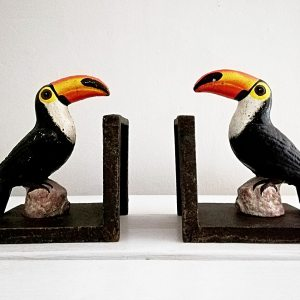 Cast Iron Toucan Bookends