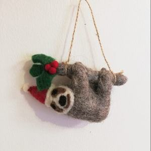 Felt Christmas Sloth Decoration