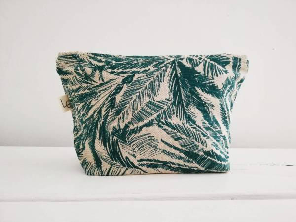 teal tropic zip pouch
