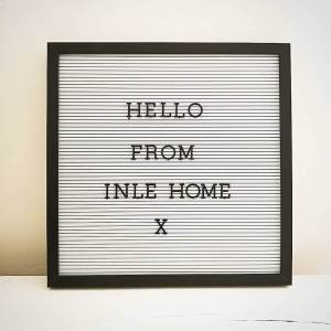 Black Framed Square Retro Letter Board