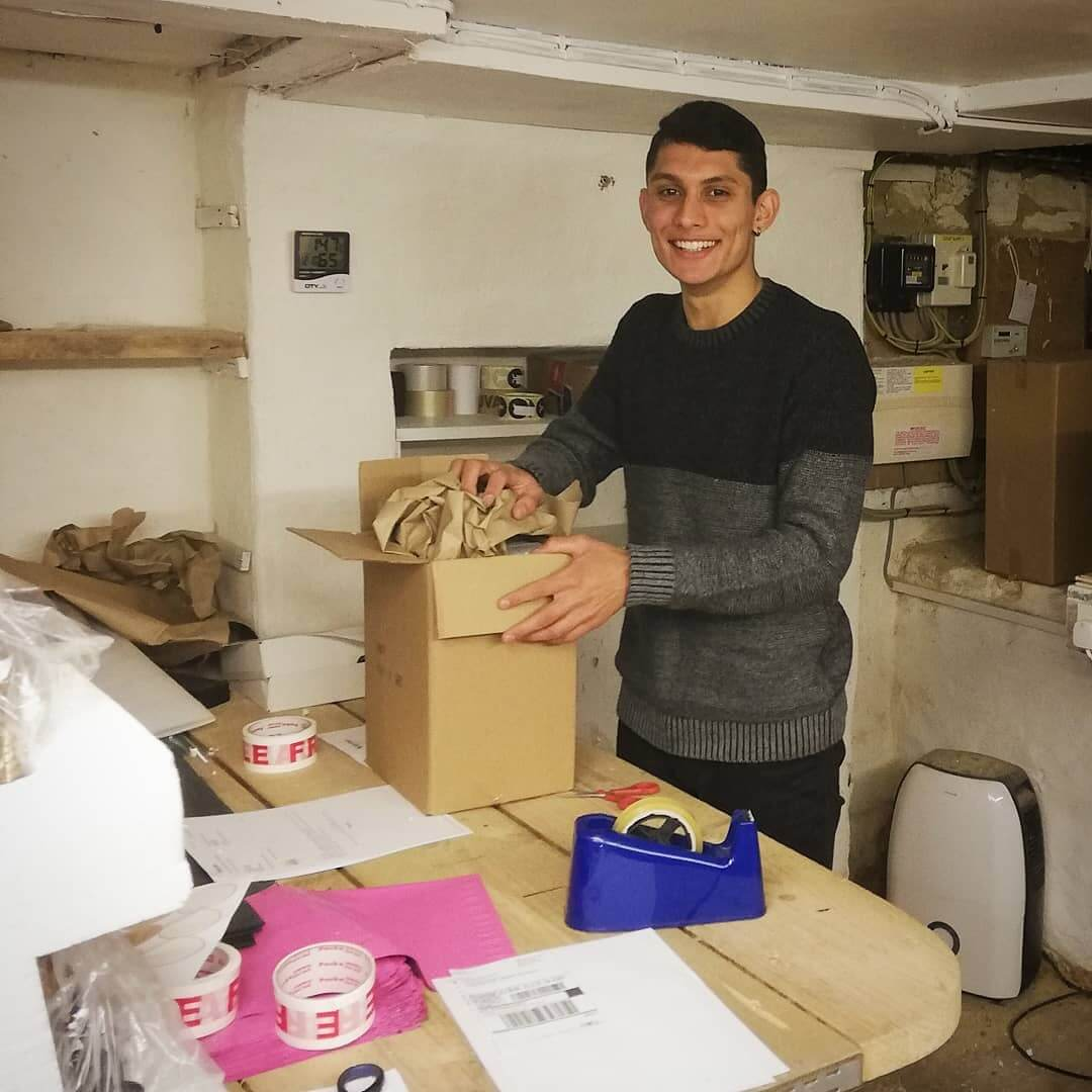 Big thanks to @alezgena for your help today 😊 Christmas is certainly here with all those parcels to pack