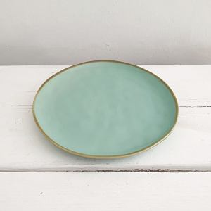 acqua green side plate