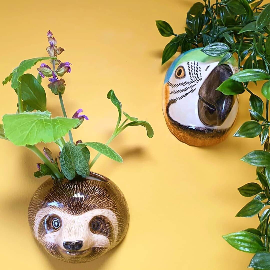 🌿 GORGEOUS new animal wall vases by @quail_ceramics 🌿 . All available now at www.inlehome.co.uk