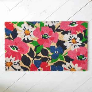 Summer Flowers doormat by Artsy