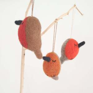Felt Winter Robins by Felt So Good