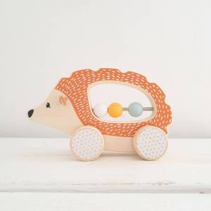 Push Along Wooden Hedgehog