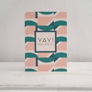 Yay, You Did It! Greetings Card