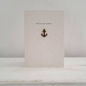 'You're My Anchor' Anchor Enamel Pin Card
