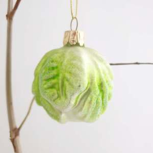 Glass Brussel Sprout Decoration by Gisela Graham