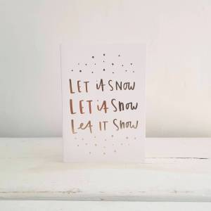 Let It Snow! Christmas Card by Old English Company