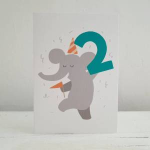 'Party Animal' 2nd Birthday Card