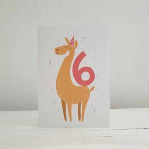 'Party Animal' 6th Birthday Card