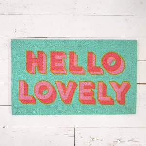 Hello Lovely Doormat by Bombay Duck