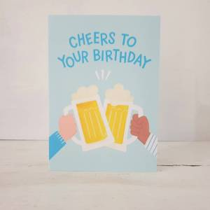 'Cheers To Your Birthday' Greetings Card