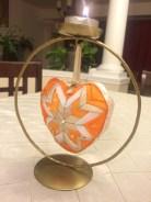 Orange Heart Ornament