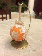Orange Ball Ornament