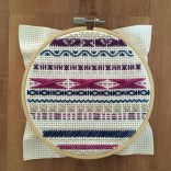Purple and Blue Cross Stitch - IV