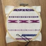 Purple and Blue Cross Stitch - II