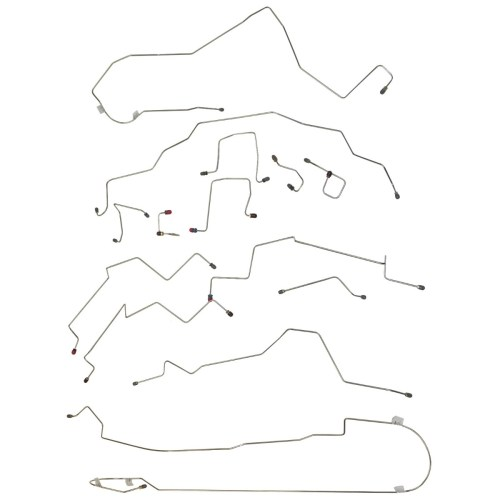 small resolution of 1998 01 dodge ram 1500 2500 2wd 4wd std cab short bed four wheel disc abs brake line set 14pc stainless
