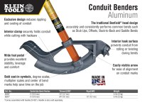 Klein Tools 1/2 in. Aluminum Conduit Bender and Handle