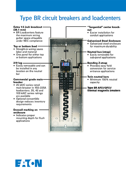 240v sub panel wiring diagram goldwing trailer eaton br 200 amp 8 space 16 circuit outdoor main breaker loadcenter learn more about electrical panels here in our buying guide