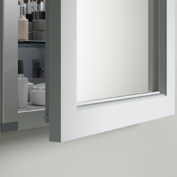 Kohler 20 In. X 26 Recessed Surface Mount Anodized Aluminum Medicine Cabinet With