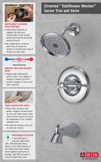 Delta Silverton Single-Handle 1-Spray Tub and Shower ...