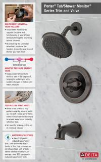 Delta Porter Single-Handle 3-Spray Tub and Shower Faucet ...