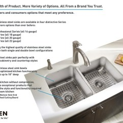 Moen Kitchen Sink Cabinet 1800 Series Undermount Stainless Steel 29 25 In Double Bowl Shop Sinks At The Home Depot