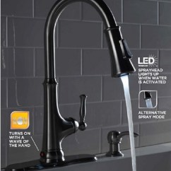 Led Kitchen Faucet Costco Glacier Bay Touchless Single Handle Pull Down Sprayer How To Install A