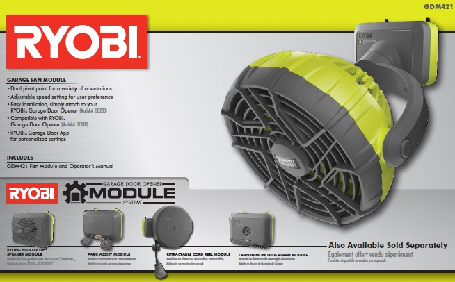 RYOBI Garage Fan AccessoryGDM421  The Home Depot