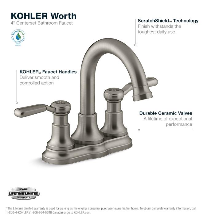 kohler bathroom faucet clean screen