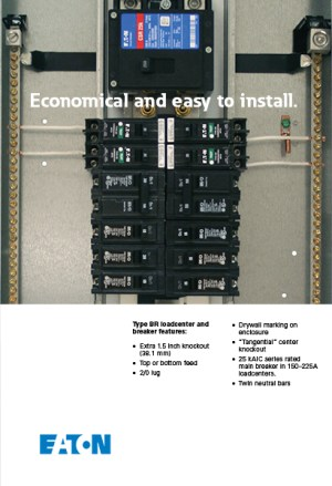 Eaton 100 Amp 20SpaceCircuit Type BR Main Breaker Load Center Value Pack (Includes 6 Breakers