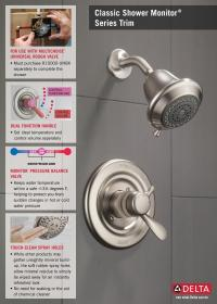 Delta Innovations 1-Handle Shower Faucet Trim Kit in ...