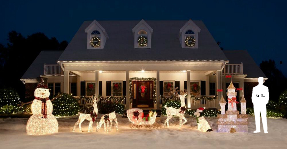 Home Accents Holiday 6 Ft Pre Lit Twinkling Castle TY373 1411